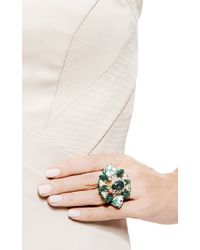 Shourouk | Galaxy Gold-Plated Swarovski Crystal Ring In Green | Lyst