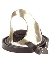 Y. Project | Metallic Silver and Leather Bracelet for Men | Lyst