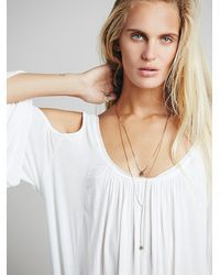 Free People - Metallic Serefina Womens Delicate Healing Necklace - Lyst