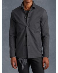 John Varvatos | Gray Cotton Military Jacket for Men | Lyst