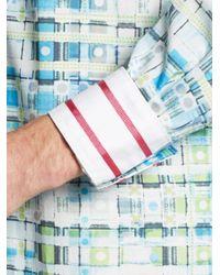 Robert Graham - Blue Tailored-Fit Brigida Printed Sportshirt for Men - Lyst