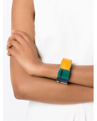 Marni - Green Colour Block Bracelet - Lyst