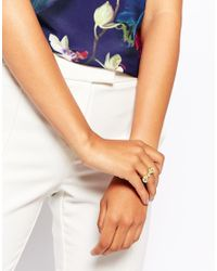 Ted Baker | Metallic Vintage Bow Ring | Lyst