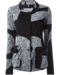Rundholz - Black Notched Collar Jacket - Lyst
