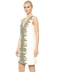 Wes Gordon - White Embroidered Shift Dress - Lyst