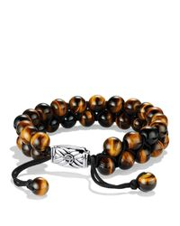 David Yurman | Metallic Spiritual Beads Two-row Bracelet With Tiger's Eye for Men | Lyst