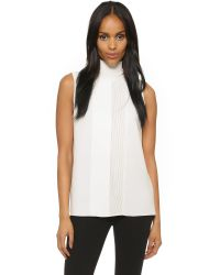 Vince - White Laser Cut Turtleneck Top - Lyst