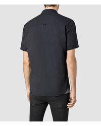 AllSaints - Black Deaux Short Sleeved Shirt for Men - Lyst