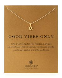 Dogeared - Metallic Gold-dipped Good Vibes Necklace - Lyst