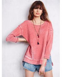 Free People | Red Womens Tiger Pullover | Lyst