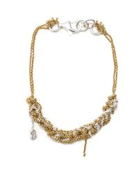 Arielle De Pinto | Metallic Bare Chain Bracelet In Gold And Silver | Lyst