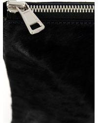 Juun.J - Black Calf-Hair Zip Pouch for Men - Lyst