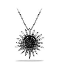 David Yurman | Metallic Starburst Medium Pendant Necklace With Diamonds | Lyst