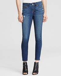 Yummie By Heather Thomson - Blue Distressed Skinny Ankle Jeans In Medium Indigo Destruction - Lyst