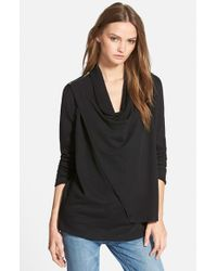 Stem | Black Shoulder Zip Cardigan | Lyst