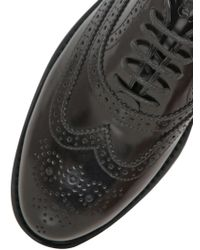 Hogan - Black 20mm Brogue Brushed Leather Oxford Shoes - Lyst