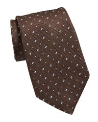 MICHAEL Michael Kors | Brown Patterned Silk Tie for Men | Lyst