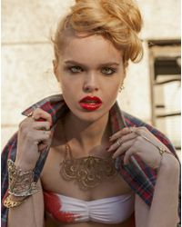 Bing Bang - Metallic Trident Harness Bracelet - Lyst