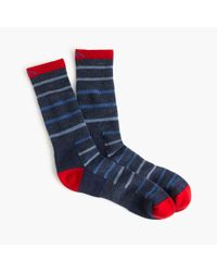 J.Crew | Blue Darn Tough Vermont Striped Socks for Men | Lyst
