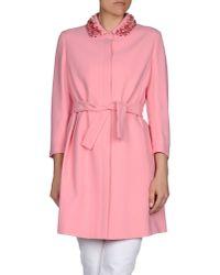 Miu Miu | Pink Full-length Jacket | Lyst