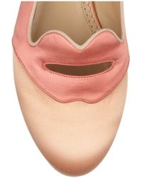 Charlotte Olympia - Pink Bisoux Silk satin Slippers - Lyst