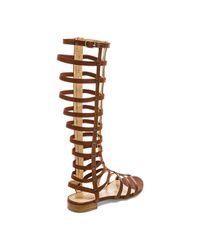 Stuart Weitzman - Brown Gladiator Sandals - Lyst