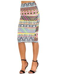 Missguided | Multicolor Verene Aztec Print Midi Skirt | Lyst