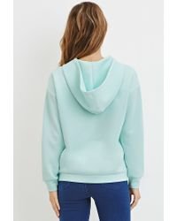 Forever 21 - Green Scuba Knit Done Graphic Hoodie - Lyst