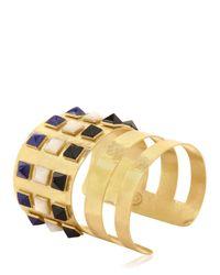 Herve Van Der Straeten | Metallic Pyramids Bracelet | Lyst