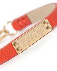 Marc Jacobs - Orange Supply Leather Bracelet - Lyst