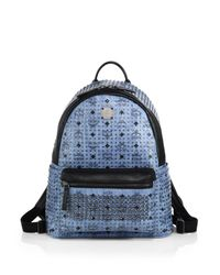 MCM | Blue Special Stark Medium Backpack for Men | Lyst