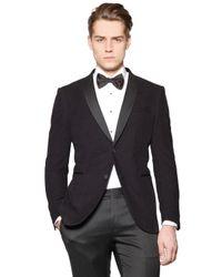 Corneliani - Purple Laser Pattern Cotton Blend Velvet Jacket for Men - Lyst
