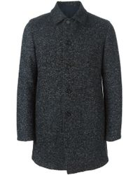 Z Zegna - Blue Single Breasted Coat for Men - Lyst