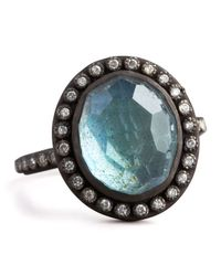 Armenta | Blue Labradorite & Pave Diamond Ring | Lyst