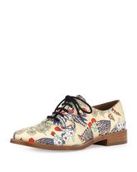 Marc By Marc Jacobs | Natural Gardenprint Leather Oxford | Lyst