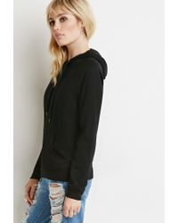 Forever 21 | Black Classic Fleece Hoodie | Lyst