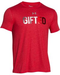 Under Armour | Red Men's Gifted Holiday T-shirt for Men | Lyst