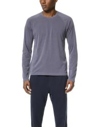 Splendid Mills | Blue Pigment Dye Long Sleeve Raglan Crew Tee for Men | Lyst