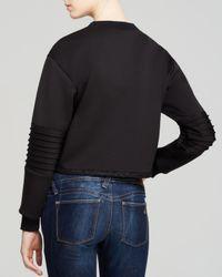 Nicole Miller Artelier | Black Sweatshirt - Open Tech Weave | Lyst