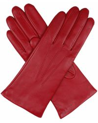 Dents | Red Cashmere-lined Leather Gloves | Lyst