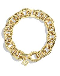 David Yurman | Yellow Oval Large Link Bracelet In Gold | Lyst