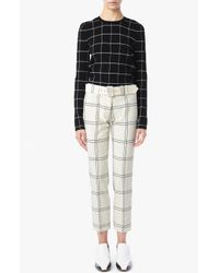 Derek Lam | Black Windowpane Crew Neck Top | Lyst