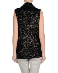 Halston | Black Sequined Vest | Lyst