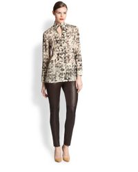 Akris Brown Melissa Leather Pants
