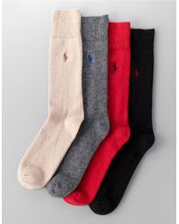 Polo Ralph Lauren | Black Cashmere Socks for Men | Lyst
