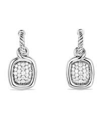 David Yurman - Metallic Labyrinth Drop Earrings With Diamonds - Lyst