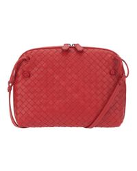 Bottega Veneta - Red Shoulder Bag - Lyst