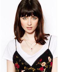 Rachel Roy - Red Lip Star Disc Multipack Neckalce - Lyst