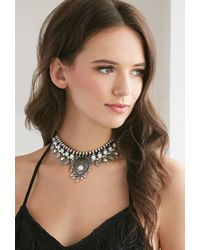 Forever 21 | Blue Etched Teardrop Choker | Lyst