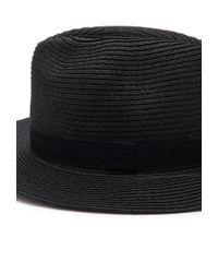 Forever 21 - Black Straw Ribbon-trimmed Fedora - Lyst